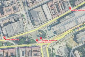 Nový úsek pešej zóny bude ohraničený Bottovou ulicou a križovatkou Mojmírovej so Štúrovou.