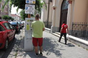 Parkovací automat na Štefánikovej.