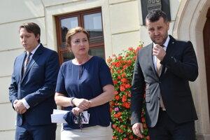 Primátorka a jej zástupcovia.