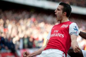 Robin van Persie v drese Arsenalu.