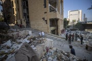 Následky explózie v Bejrúte.