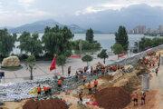 Záplavy v Číne počas leta 2020.