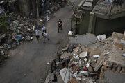 Zničené budovy v Bejrúte.