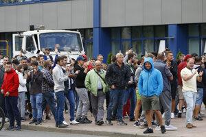 Protivládne protesty v Minsku.