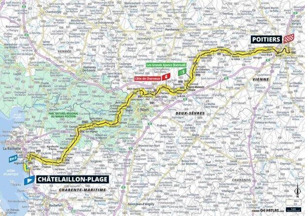 11. etapa na Tour de France 2020 - mapa.