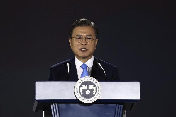 Juhokórejský prezident Mun Če-in v prejave pri príležitosti 75. výročia oslobodenie Kórey spod japonskej koloniálnej nadvlády (1910 až 1945).