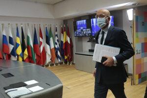 Predseda Európskej rady Charles Michel pre mimoriadnym videosummitom k situácii v Bielorusku.