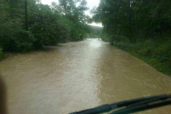 Záplavy na hornom Zemplíne.