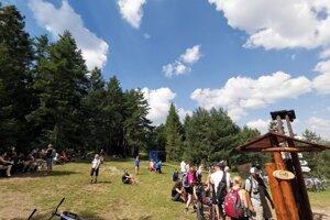 Kláštorisko počas horúceho dňa v Slovenskom raji.