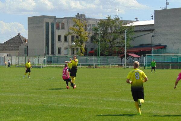 Brezová (v ružovom) nastúpila v Pobedime.