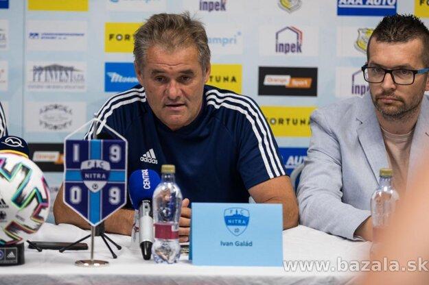 Športový riaditeľ a šéftréner FC Nitra Ivan Galád (vľavo).