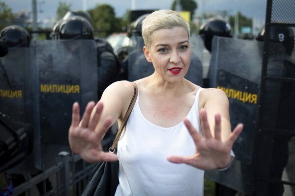 Popredná predstaviteľka bieloruskej opozície Maryja Kalesnikavová.