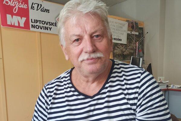 Milan Žiška počas nášho rozhovoru v redakcii MY Liptovské noviny.