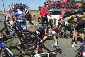 Momentka z 10. etapy na Tour de France 2020.