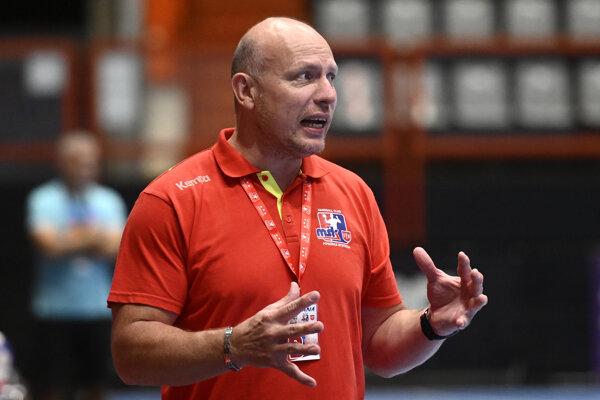 Tréner hádzanárov MŠK Považská Bystrica Václav Straka.