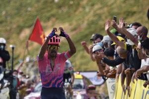 Daniel Felipe Martinez po víťazstve v etape.