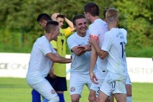 Radosť hráčov Lokomotívy bola po víťaznom góle obrovská.