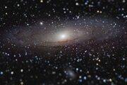 Víťazná snímka galaxie Andromeda zo súťaže Astronomický fotograf roka 2020.