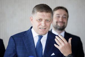 Šéf Smeru Robert Fico a podpredseda Ľuboš Blaha.