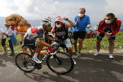 Momentka zo 17. etapy na Tour de France 2020.