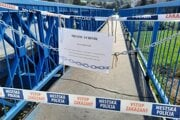 Uzatvorená časť mosta vo Svidníku.