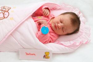 Barbora Šimová z Prievidze sa narodila 25.8. v Bojniciach