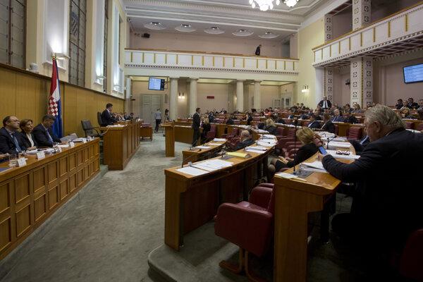Chorvátsky parlament.