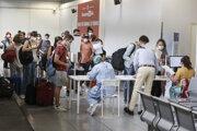 Testovanie na letisku v Ríme.