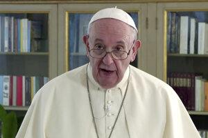 Pápež František v prednahratom príhovore pre 75. zasadnutie Valného zhromaždenia Organizácie Spojených národov.
