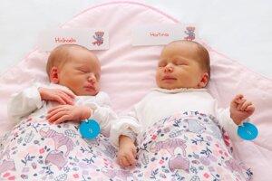 Michaela a Martina Bukovianské z Oslian sa narodili 20.9.2020 v Bojniciach.