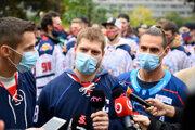 Protest slovenských hokejistov proti opatreniam vlády.