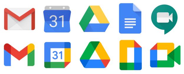 Redizajn ikon Google aplikácií.