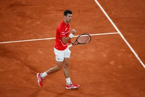 Novak Djokovič na Roland Garros 2020.
