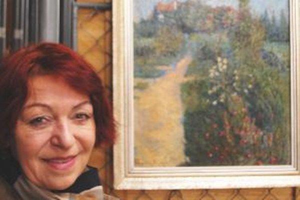 Na výstave sa objaví aj toto dielo Karola Pongrácza, ktoré je majetkom Nitrianskej galérie - olejomaľba Záhrada na Zobore, hovorí Marta Hučková.