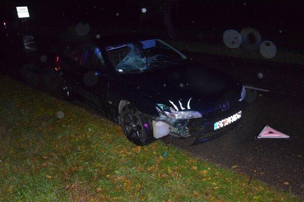 Podľa policajných informácií pri nehode zachytil 22-ročný vodič na Peugeote 406vozidlom dvoch chodcov.