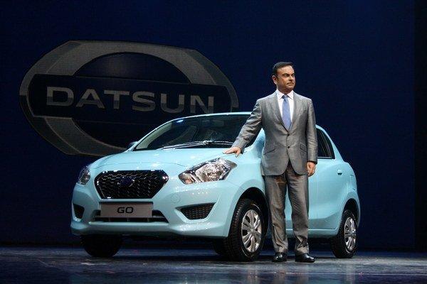 Datsun GO predstavil v indickom Dillí aj výkonný riaditeľ značky Nissan - Carlos Ghosn.