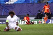 Radosť hráčov Šachtaru Doneck z gólu proti Realu Madrid.
