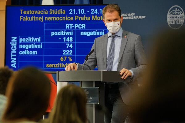 Premiér Igor Matovič.