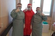 COVID oddelenie v levickej nemocnici.