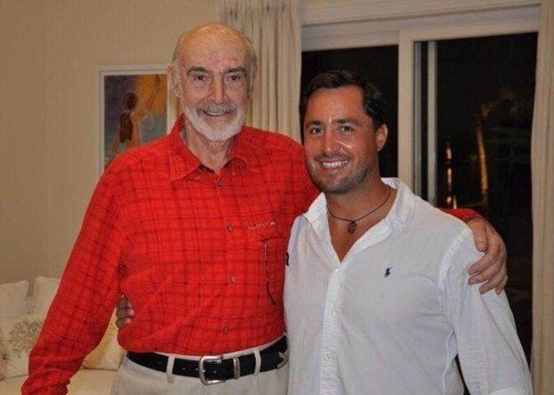 Sean Connery a jeho kondičný tréner Tomáš Mihalik.
