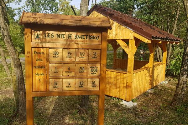 Oddychová zóna vlokalite Kalaštav vlesoch  medzi obcami Šajdíkové humence aBorský Mikuláš.