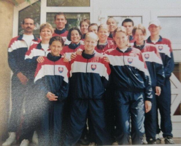 Jozef Kertész (vľavo) ako reprezentačný tréner Slovenska.