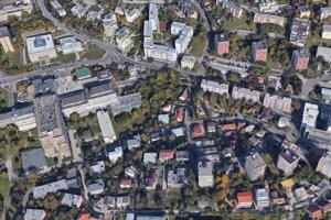 Lokalita, v ktorej má vyrásť projekt Polyfunkčný dom Stromová.