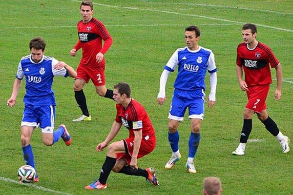 Šaľa porazila béčka Trnavy 3:0. V modrom Rehák a Nurkovič.