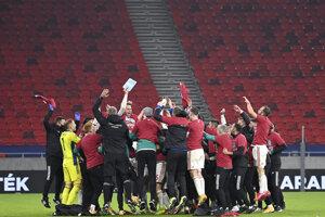 Maďarsko slávi postup na EURO 2020.
