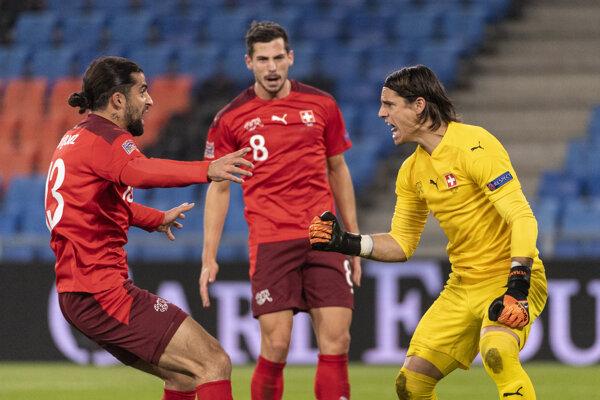Zápas Švajčiarsko - Španielsko.