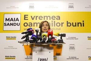 Maia Sanduová, víťazka prezidentských volieb v Moldavsku.