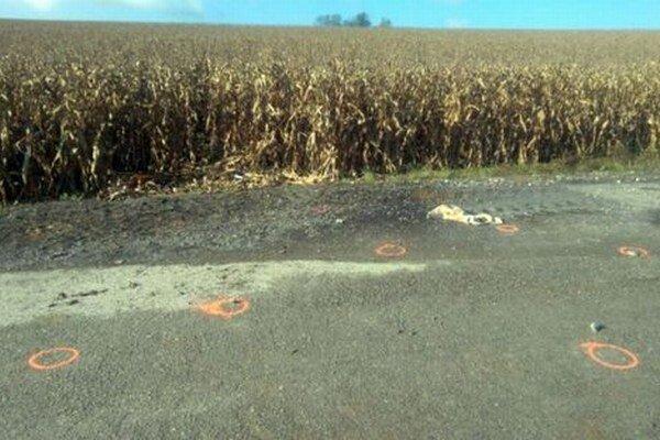 Lúpež sa stala pri kukuričnom poli neďaleko Beladíc.