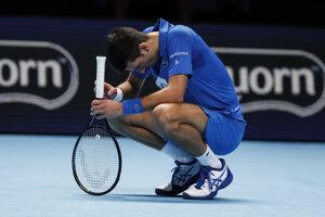 Novak Djokovič na turnaji majstrov 2020.