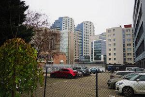 City Park Ružinov v pozadí.